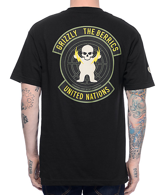 The Berrics x Grizzly Special Forces Black T-Shirt