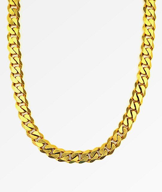 The Gold Gods Flat Edge 30 Quot Cuban Link Necklace At Zumiez
