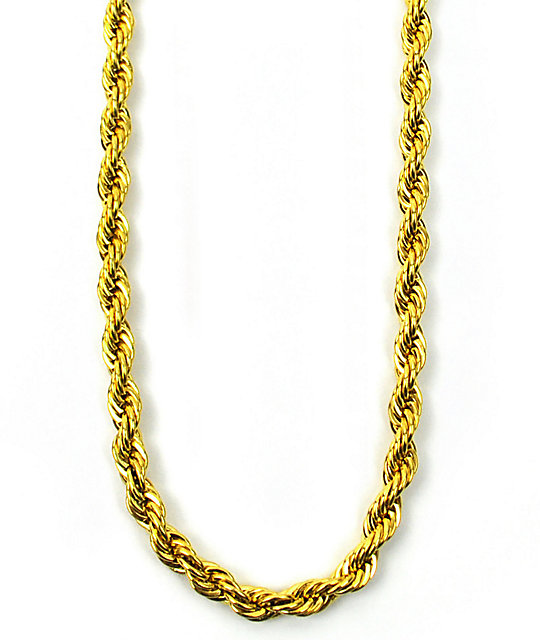 the gold gods rope chain necklace zumiez