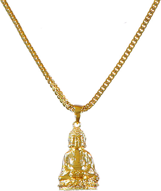 The Gold Gods Sitting Buddha Piece Necklace | Zumiez.ca