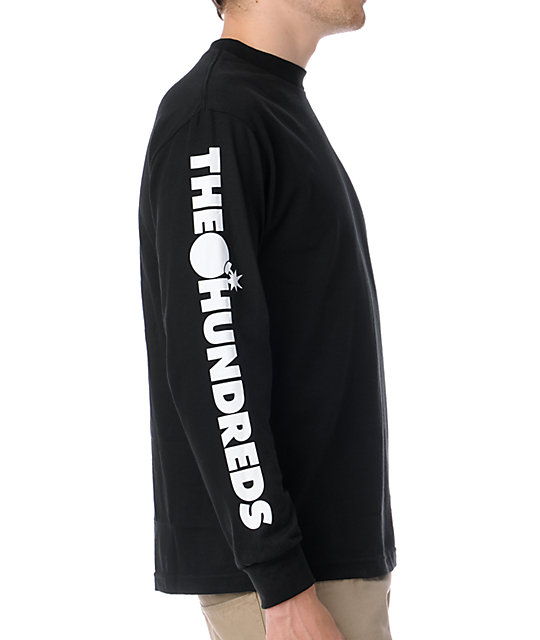 The Hundred Bar Logo Long Sleeve Black T-Shirt