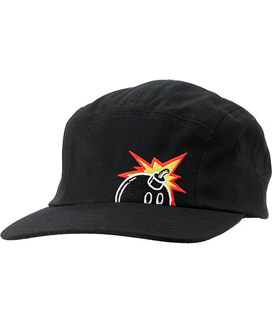 The Hundred Pop Black 5 Panel hat