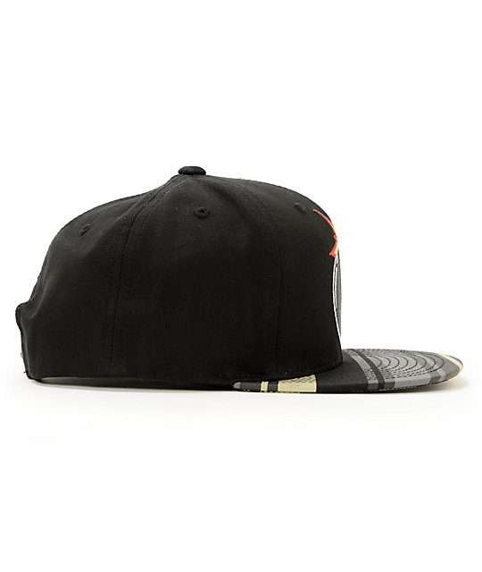 The Hundreds Adam Black & Stripe Snapback Hat