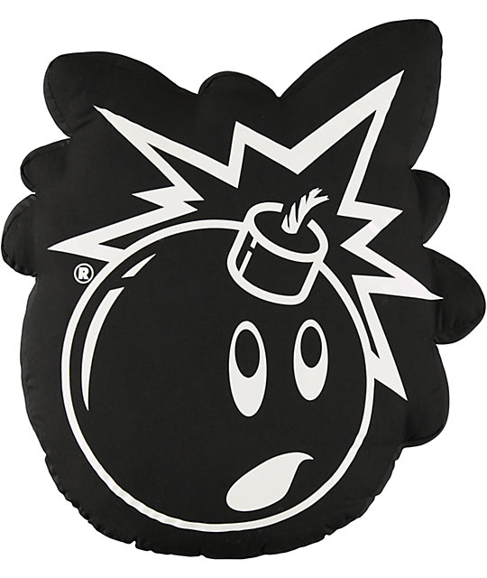 Bomb Outline Throw Pillow Pillow Outline