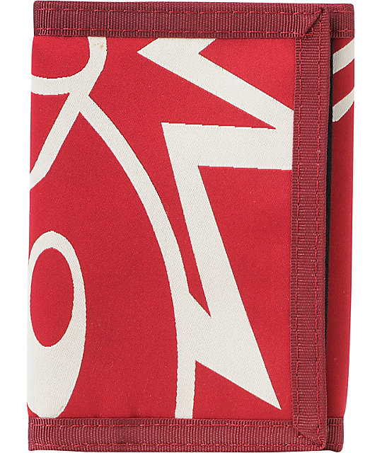 The Hundreds Adam Tri-Fold Burgundy Wallet