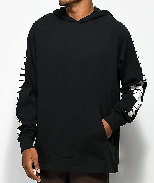The Hundreds Alpha Hooded Pullover Black Hoodie by The Hundreds