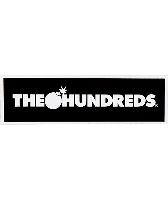 The Hundreds Bar Logo Black Sticker