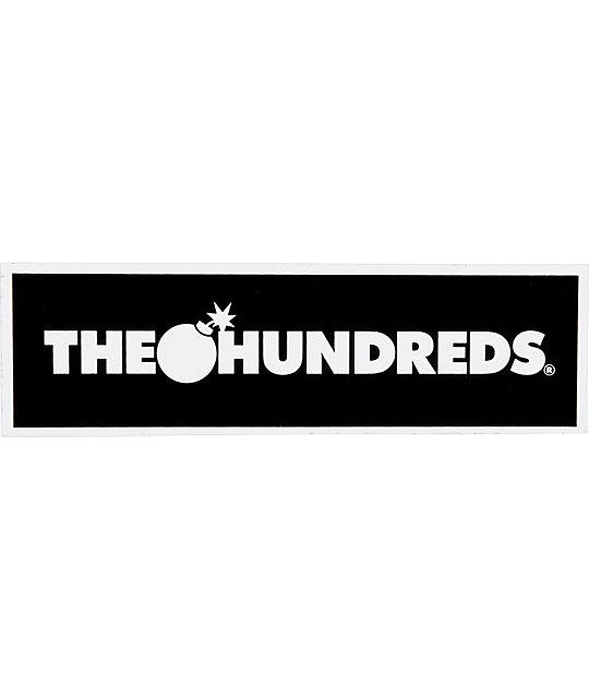 The Hundreds Bar Logo Black Sticker