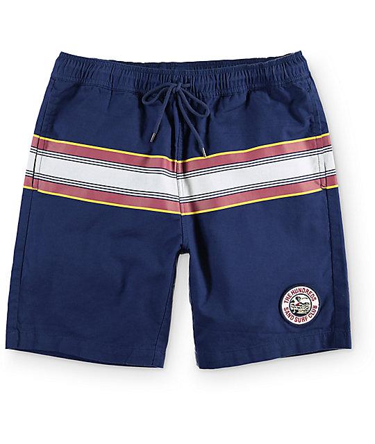 The Hundreds Barrel Navy Shorts