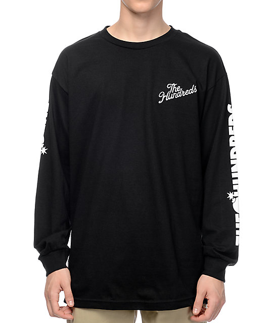 The hundreds bars black long sleeve t shirt for What is a long sleeve t shirt