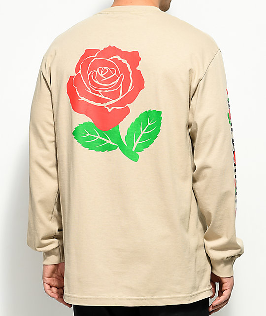 The Hundreds Big Rose Fill Sand Long Sleeve T-Shirt