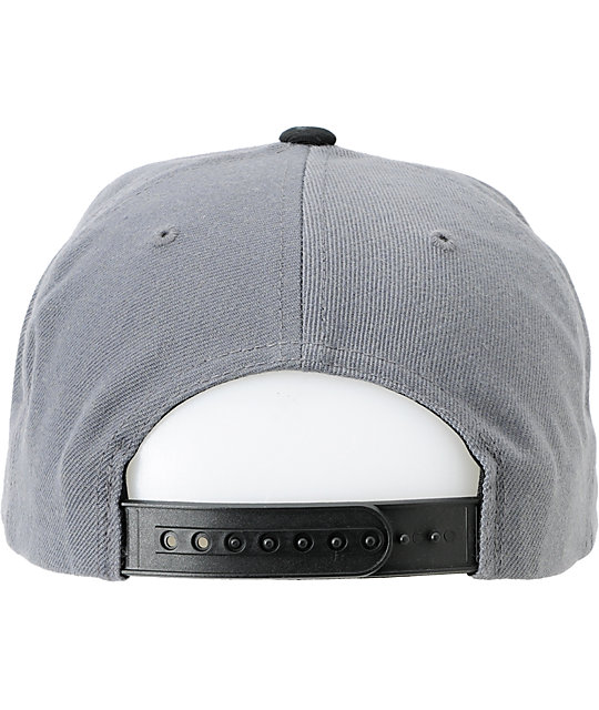 The Hundreds Blinds Black & Grey Snapback Hat
