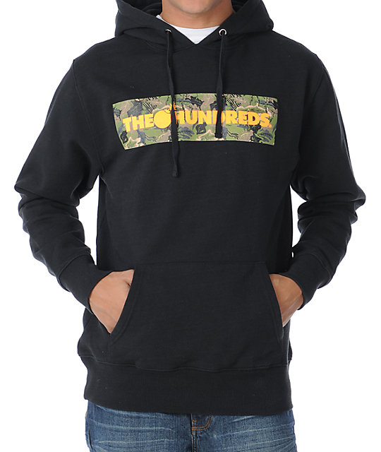 The Hundreds Camo Corners Black Pullover Hoodie