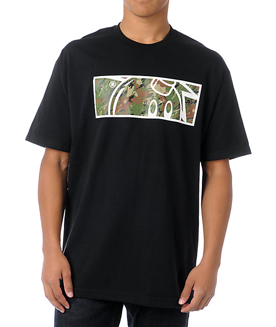 The Hundreds Camo Rectangle Adam Black T-Shirt