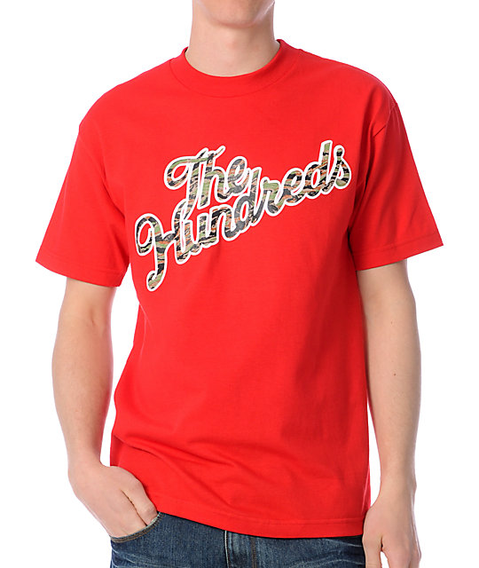 The Hundreds Camoslant Red T-Shirt