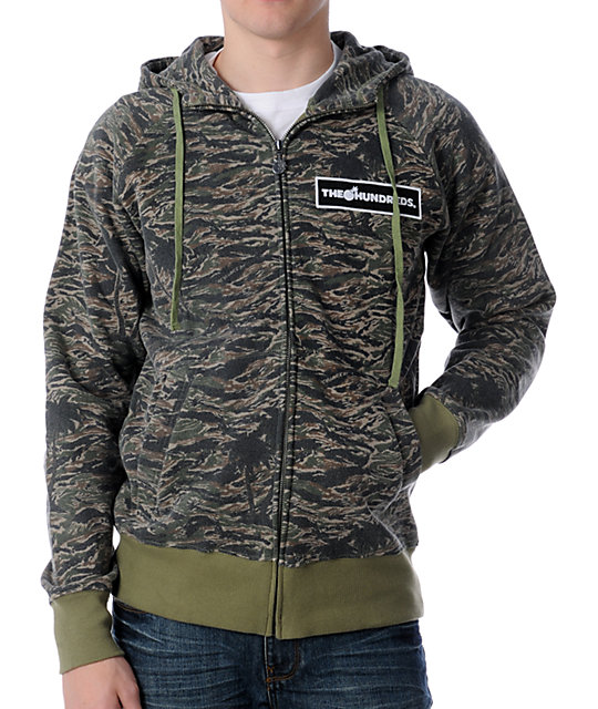 The Hundreds Camouflage Zip Up Hoodie
