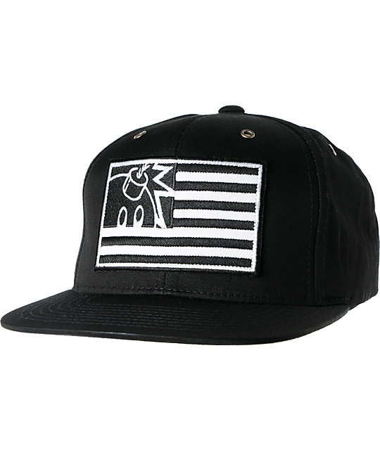 The Hundreds Canopy Black Snapback Hat