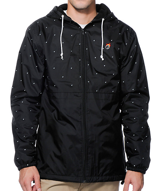 The Hundreds Carlton Black Windbreaker Jacket at Zumiez : PDP
