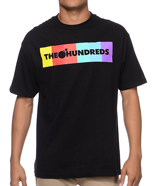 The Hundreds Color Bar Black T-Shirt