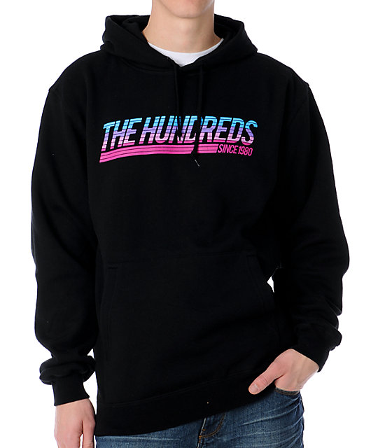The Hundreds Color Fade Black Pullover Hoodie