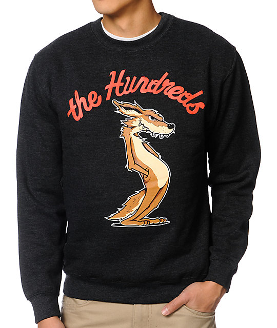 The Hundreds Coyote Charcoal Crew Neck Sweatshirt