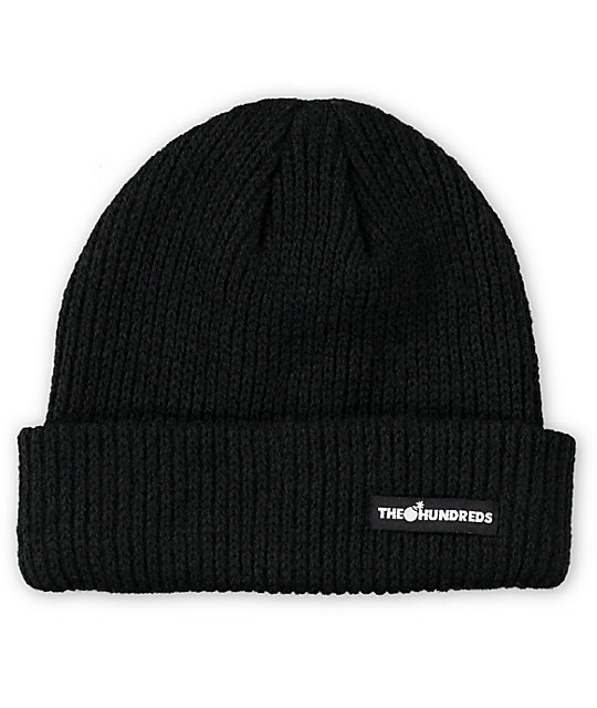 The Hundreds Crisp Black Cuff Beanie