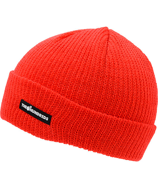 The Hundreds Crisp Red Cuff Beanie