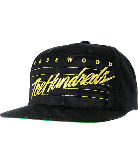 The Hundreds Daze Black Snapback Hat
