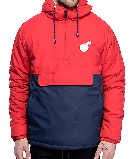 The Hundreds Dell Puffer Red Anorak Jacket