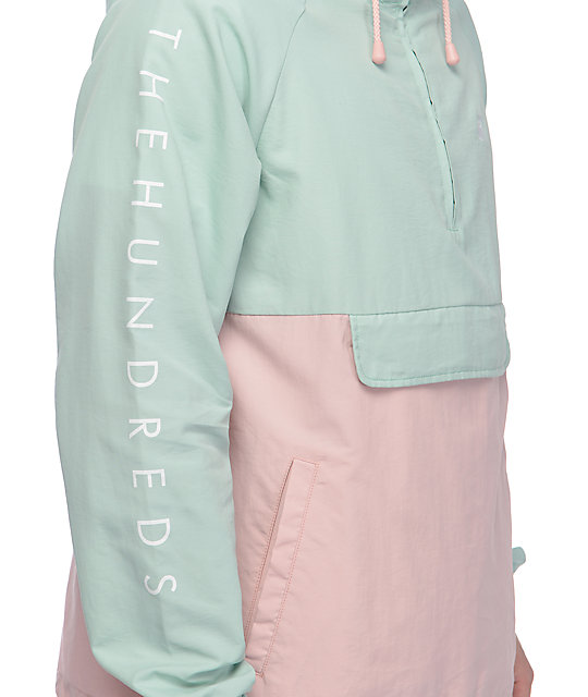 The Hundreds Dell Turquoise Anorak Jacket