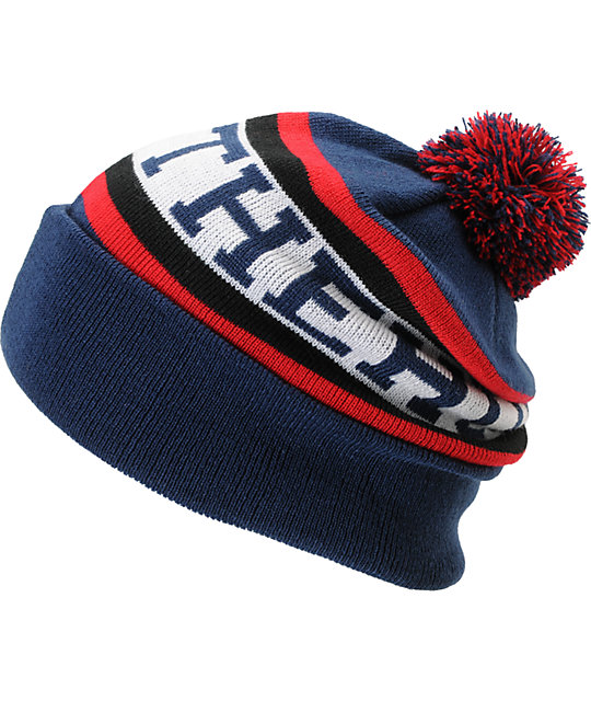 The Hundreds Division Navy Pom Beanie