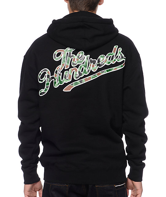 The Hundreds Duckin Slant Black & Camo Pullover Hoodie