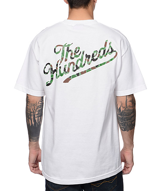 The Hundreds Duckin Slant White & Camo T-Shirt