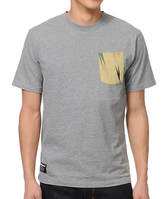 The Hundreds Fennel Grey & Thistle Pocket T-Shirt