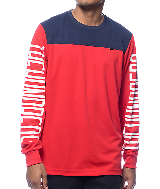 The Hundreds Flip Red Long Sleeve Shirt