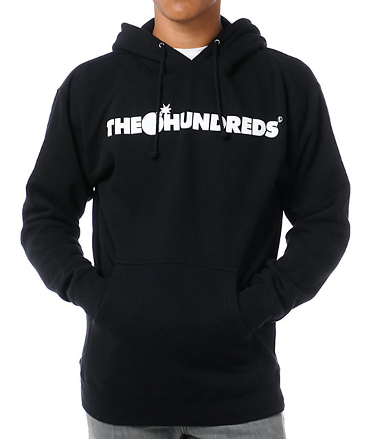 The Hundreds Forever Bar Black Pullover Hoodie