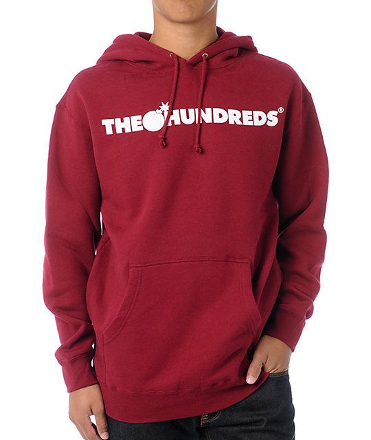 The Hundreds Forever Bar Burgundy Pullover Hoodie