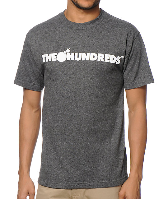The Hundreds Forever Bar Charcoal T-Shirt
