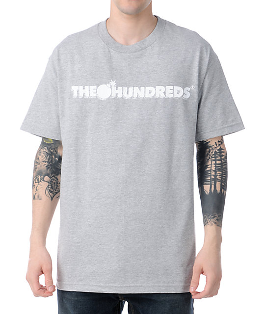The Hundreds Forever Bar Logo Heather Grey T-Shirt