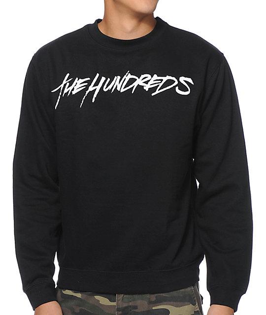 The Hundreds Forever Marker Black Crew Neck Sweatshirt