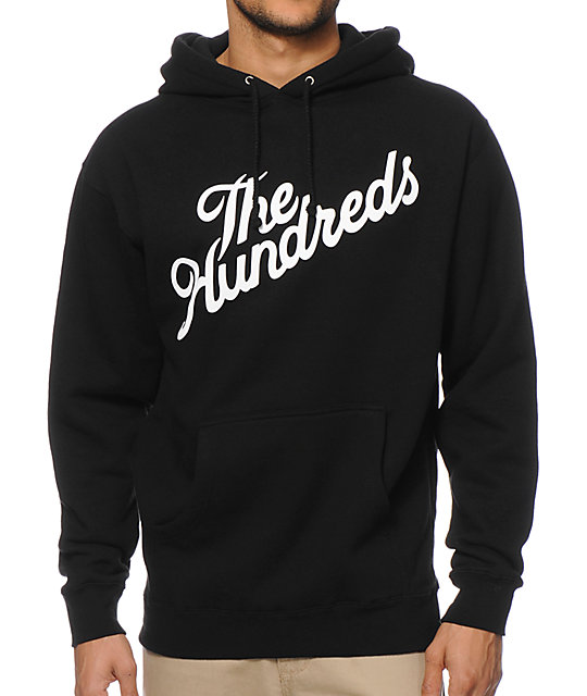 The Hundreds Forever Slant Black Hoodie