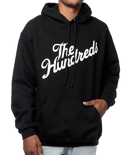 the hundreds forever slant black pullover hoodie