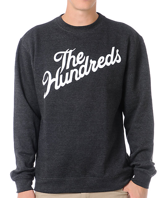 The Hundreds Forever Slant Charcoal Crew Neck Sweatshirt
