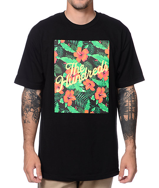 The Hundreds Forever Slant Floral Black T-Shirt