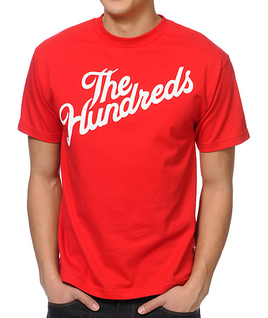 The Hundreds Forever Slant Logo Red T-Shirt