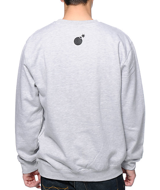 The Hundreds Forever Square Heather Grey Crew Neck Sweatshirt