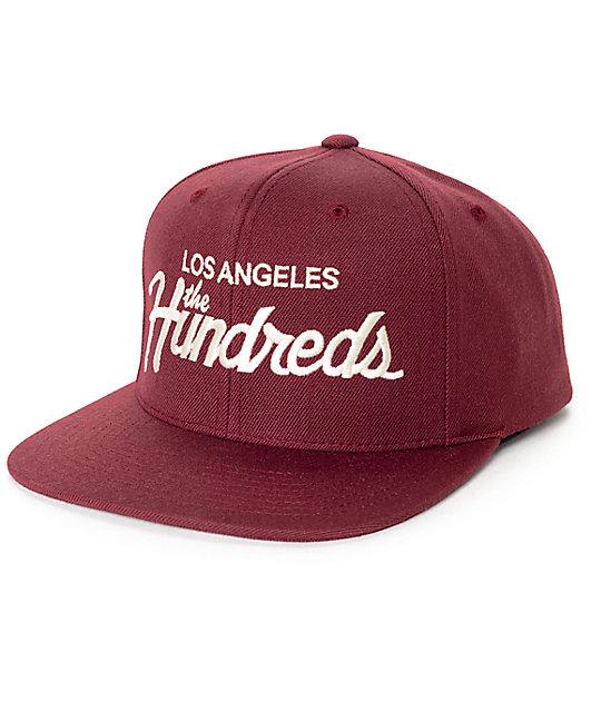 The Hundreds Forever Team Burgundy Snapback Hat