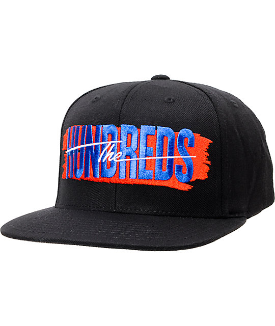 The Hundreds Hailmary Black & Red Snapback Hat