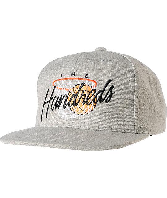 The Hundreds Hoops Grey Snapback Hat
