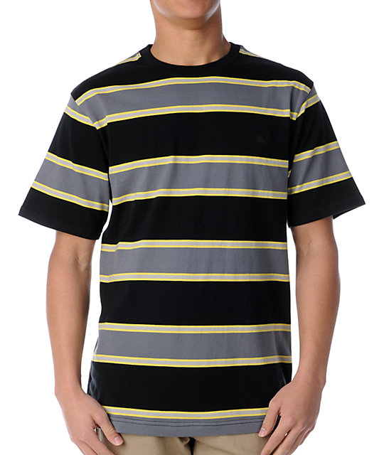 The Hundreds Isle Black Stripe Knit T-Shirt